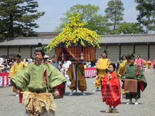 葵祭 風流傘の行列の写真・画像素材[2159219]