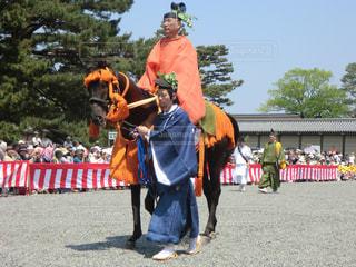 葵祭の路頭の儀の写真・画像素材[2159222]