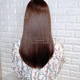 ストレート髪の毛の写真・画像素材[3207876]