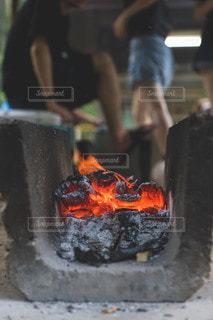 燃え炭の写真・画像素材[3600943]