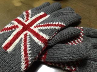 ユニオンジャックの手袋の写真・画像素材[2168453]
