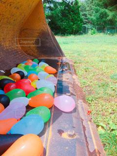 夏の水風船の写真・画像素材[2161743]