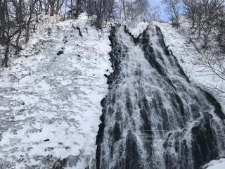 厳冬の滝の写真・画像素材[2213197]