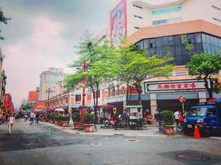 台湾のレトロな街並みの写真・画像素材[2166484]