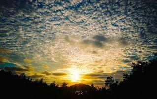 夕陽の写真・画像素材[2189254]