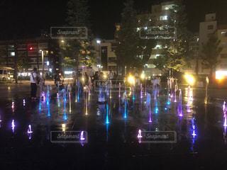 噴水のダンスの写真・画像素材[2171623]