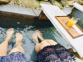 足湯の写真・画像素材[2189706]