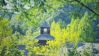 山の中の時計台広場の写真・画像素材[2243933]
