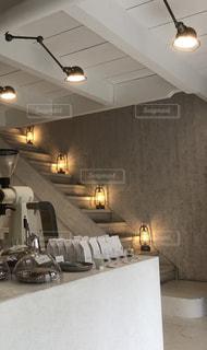 階段カフェの写真・画像素材[2203641]