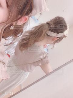女性のうなじの写真・画像素材[2250279]