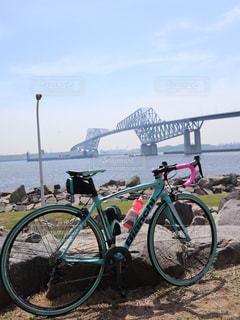 東京ゲートブリッジとロードバイクの写真・画像素材[2187351]