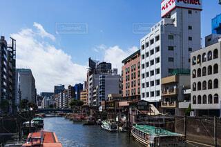 下町の川の写真・画像素材[4247934]