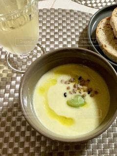 そら豆のスープの写真・画像素材[2288557]