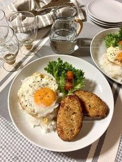 ワンプレート朝食の写真・画像素材[3390517]