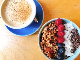 カフェの朝食 in NYの写真・画像素材[2190426]