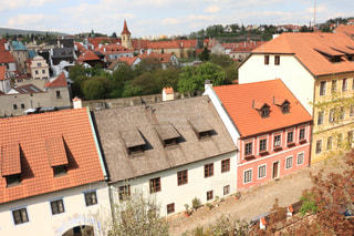 チェコのレンガ造りの街並みの写真・画像素材[2208709]
