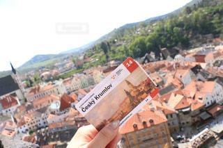 チェコのお城の上から見下ろした景色の写真・画像素材[2243548]