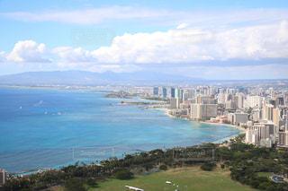 ハワイのダイヤモンドヘッドの頂上からの風景の写真・画像素材[2243572]
