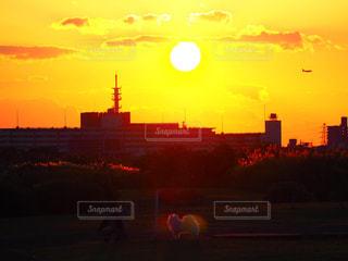 都市の夕日の写真・画像素材[2264769]