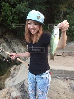 釣り女子の写真・画像素材[2205384]