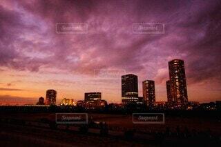 オレンジ都市の写真・画像素材[4052083]