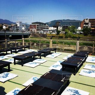 京都の夏の風物詩、川床の写真・画像素材[2192663]
