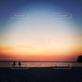 白良浜夕焼けの写真・画像素材[2208255]