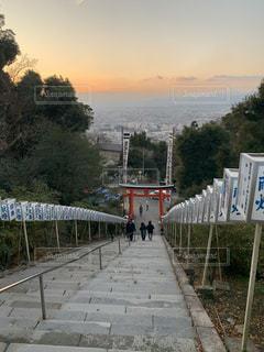 階段上からの景色の写真・画像素材[2912567]