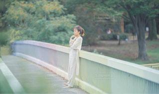 橋の上での写真・画像素材[2199575]