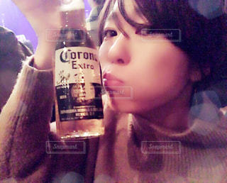 ビールは飲めないけど2ショット🍺の写真・画像素材[2199689]