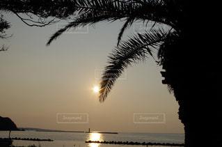 海に沈む夕日の写真・画像素材[2203756]