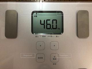 体重測定46kgの写真・画像素材[2249713]