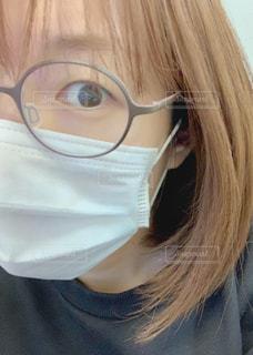 マスク姿の女性の写真・画像素材[3103986]