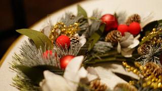 クリスマスリースの写真・画像素材[1664325]