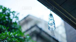 ラムネの瓶で作った風鈴の写真・画像素材[2318351]