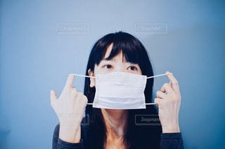 マスクの着け方の写真・画像素材[3330271]
