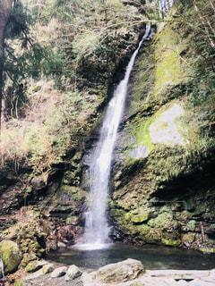 森の中の大きな滝の写真・画像素材[2204515]