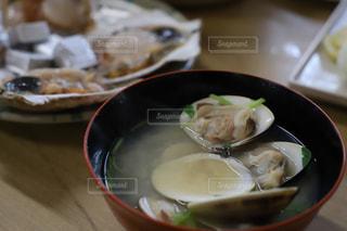 アサリの味噌汁の写真・画像素材[2214230]