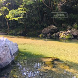 吾妻峡 緩やかな川の流れの写真・画像素材[2217361]