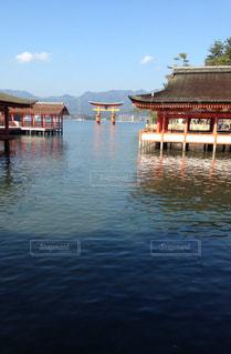 水の体の隣にある桟橋のクローズアップの写真・画像素材[3303446]