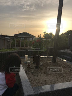 墓参りの際のオーブの写真・画像素材[2210961]