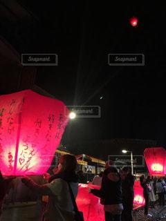 台湾旅行、10份でランタン飛ばしの写真・画像素材[2220597]