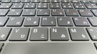 コンピュータのキーボードのクローズアップの写真・画像素材[2215671]