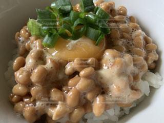 納豆ご飯の写真・画像素材[2224466]