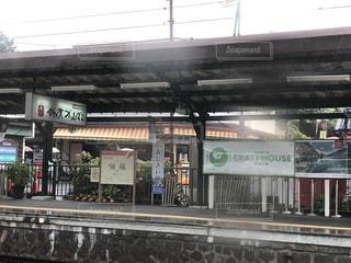 雨の強羅駅の写真・画像素材[2241958]