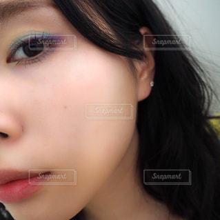 カラーメイクの写真・画像素材[2242385]