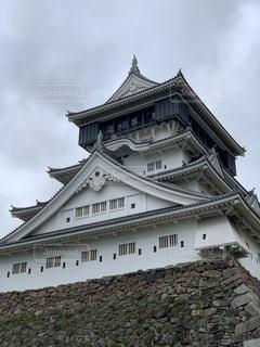 大きな石造りの建物の写真・画像素材[2218544]