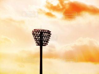 野球場の照明の写真・画像素材[2345542]