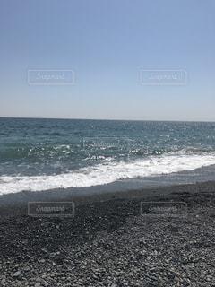 海に隣接する砂浜の写真・画像素材[2219227]