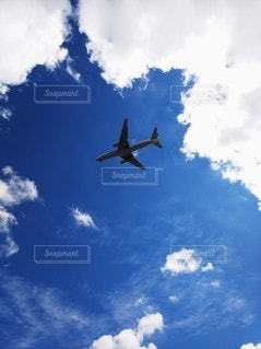 空を飛ぶ飛行機の写真・画像素材[2220764]